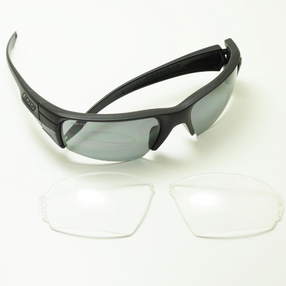 ESS イーエスエス CROWBAR 2LENS クロウバー 2枚レンズ ロゴブラック ブラック/スモークグレイ/クリアメガネ 眼鏡 めがね メンズ レディース おしゃれ ブランド 人気 おすすめ フレーム 流行り 度付き レンズ サングラス