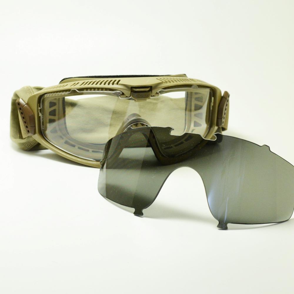 ESS イーエスエス INFLUX インフラックス EE-7018-03 テレインタン/クリア/スモークグレーメガネ 眼鏡 めがね メンズ レディース おしゃれ ブランド 人気 おすすめ フレーム 流行り 度付き レンズ サングラス