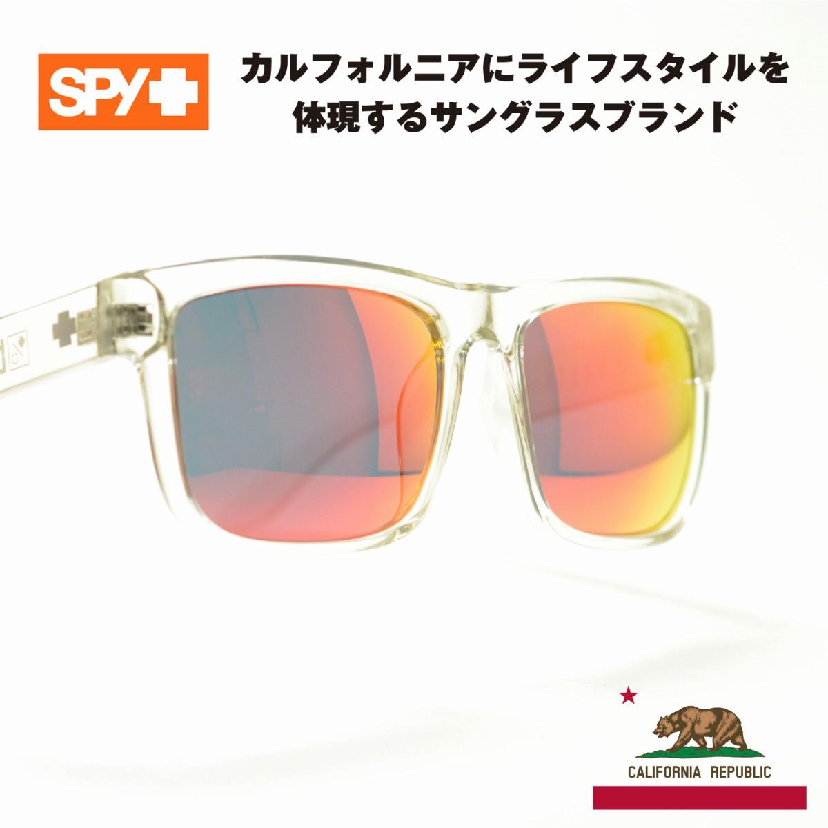 SPY スパイ DISCORD ディスコード クリア/グレーレッドミラーメガネ 眼鏡 めがね メンズ レディース おしゃれ ブランド 人気 おすすめ フレーム 流行り 度付き レンズ サングラス