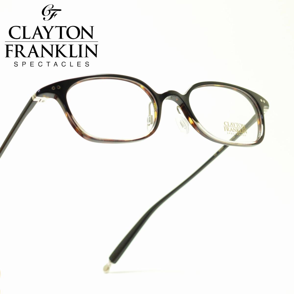 CLAYTON FRANKLIN クレイトンフランクリン722 BKDH ブラックデミハーフメガネ 眼鏡 めがね メンズ レディース おしゃれ ブランド 人気 おすすめ フレーム 流行り 度付き レンズ