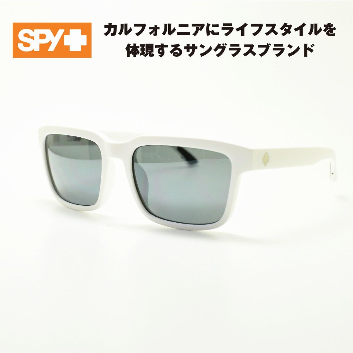 SPY スパイHELM2 ヘルム2(マットホワイト/グレーグリーン シルバーミラー)