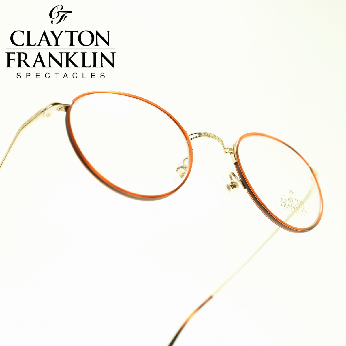 CLAYTON FRANKLIN クレイトンフランクリン635 GP(ゴールド/デモレンズ)メガネ 眼鏡 めがね メンズ レディース おしゃれブランド 人気 おすすめ フレーム 流行り 度付き レンズ