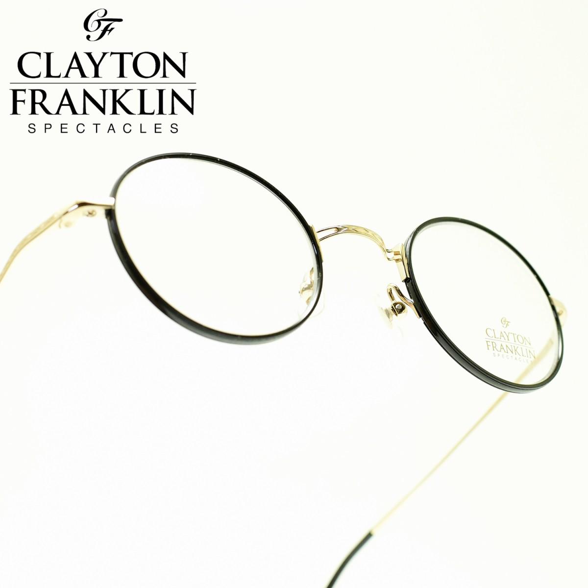 CLAYTON FRANKLIN クレイトンフランクリン636 GP(ゴールド/デモレンズ)メガネ 眼鏡 めがね メンズ レディース おしゃれブランド 人気 おすすめ フレーム 流行り 度付き レンズ