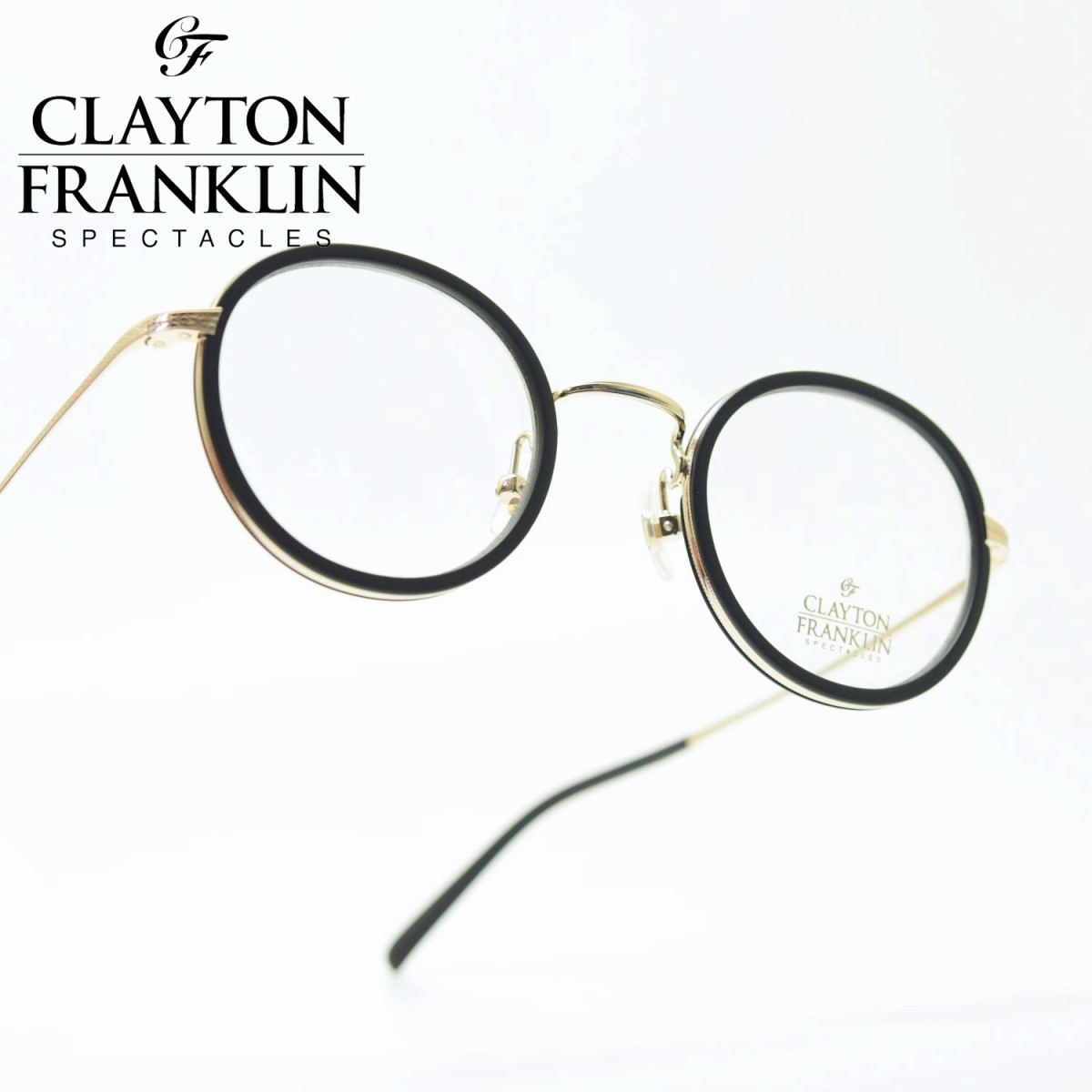 CLAYTON FRANKLIN クレイトンフランクリン598 MBK/GP(マットブラック・ゴールド/デモレンズ)