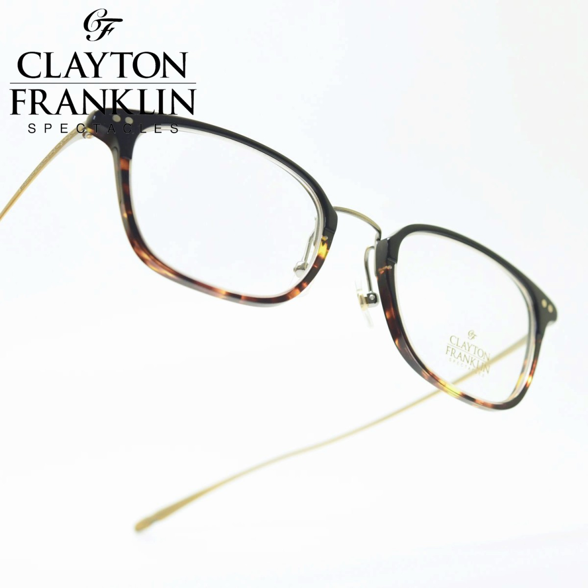 CLAYTON FRANKLIN クレイトンフランクリン642 BKDH(ブラックデミハーフ/デモレンズ)