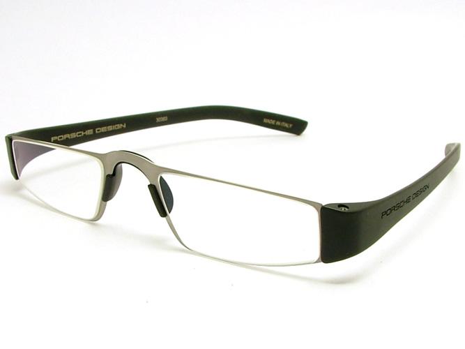 ポルシェ・デザイン【PORSCHE DESIGN】リーディンググラス(老眼鏡/シニアグラス)P-8801(シルバー/ブラック)