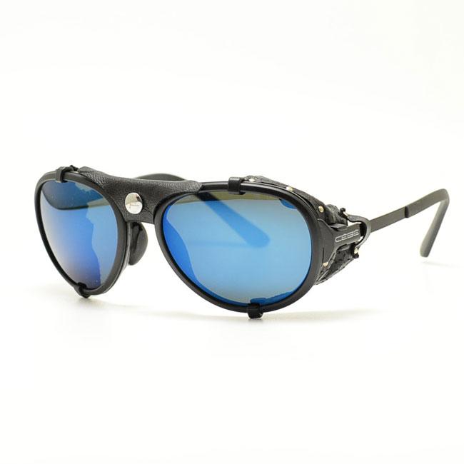 CEBE-セベ-아웃 도어 선글라스 프레임 LHOTSE Mattblack/Cebe 4000 Mineral AR Blue Cat.4 CBLHOT2 (매트 블랙/그레이 블루 미러 * 유리 소재)
