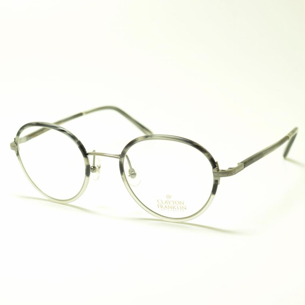 CLAYTON FRANKLIN クレイトンフランクリン 618 MGRH マットグレーハーフメガネ 眼鏡 めがね メンズ レディース おしゃれ ブランド 人気 おすすめ フレーム 流行り 度付き レンズ