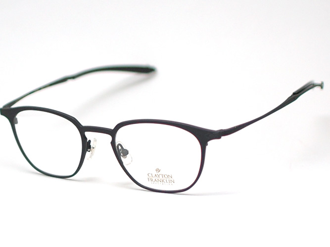 克莱顿 · 富兰克林眼镜框架 CF591 MBLK (哑光黑色 / クリアデモ 镜头)