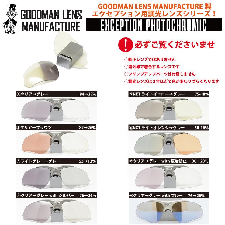 GOODMAN LENS MANUFACTURE-グッドマンレンズマニュファクチュア-【RUDYPROJECT】ルディープロジェクトEXCEPTION エクセプション 調光レンズシリーズ