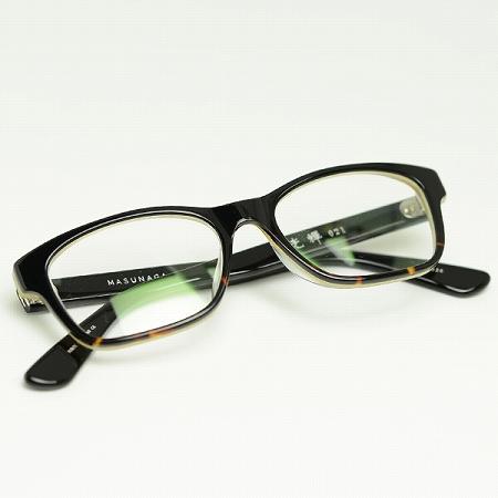 MASUNAGA眼镜架子光辉KOOKI 021-26(黑色戴米/清除透镜)