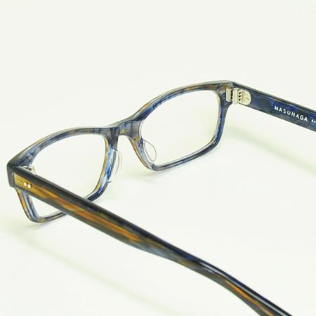 MASUNAGA 안경 프레임 밝음 KOOKI 017-15 BL/BR (블루 브라운/클리어 렌즈)