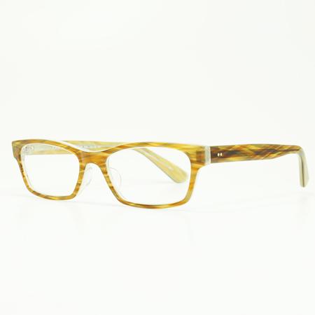 MASUNAGA 안경 프레임 미츠테루 KOOKI 017-23 BR/WH (브라운 화이트/클리어 렌즈)