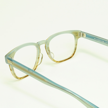 永眼镜框架明亮 KOOKI 018-38 绿色-BR (半-灰色/清除)