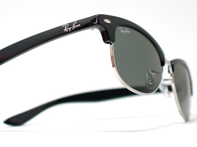 """雷斑太阳眼镜俱乐部主人""""CATHY CLUBMASTER""""RB4132-601(黑色/G15)"""