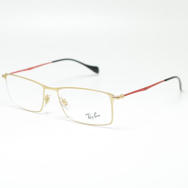 레이 밴 안경 프레임 RB6290 2785 (골드/레드/데모 렌즈)