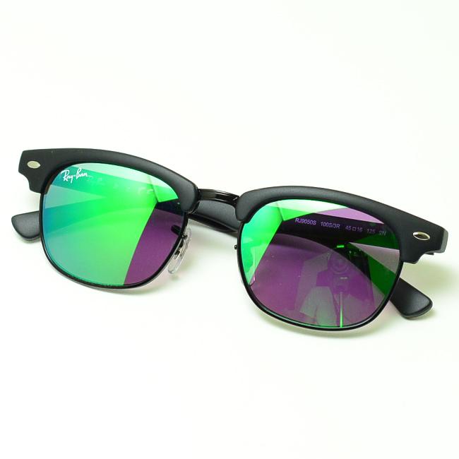 59c79fc4603 Ray Ban sunglasses CLUBMASTER JUNIOR (matte black   green flash mirror)