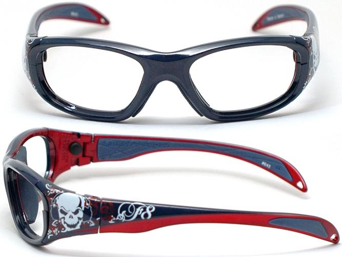 孩子的镜头......体育用品眼镜和运动护目镜 LEC 规格儿童眼镜 ★ RECSPECS 变种 SKUL / 睡眠 ★ (海军头骨)