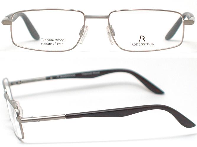罗登存货眼镜架子R4781-C(银子&eboniuddo/示威透镜)钛/木制担普尔/乌木/弹簧铰链