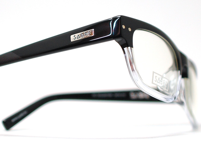 세이버 안경 프레임 THE KENNEDY 케네디 SV70-10412 J (블랙・클리어/클리어 데모 렌즈)