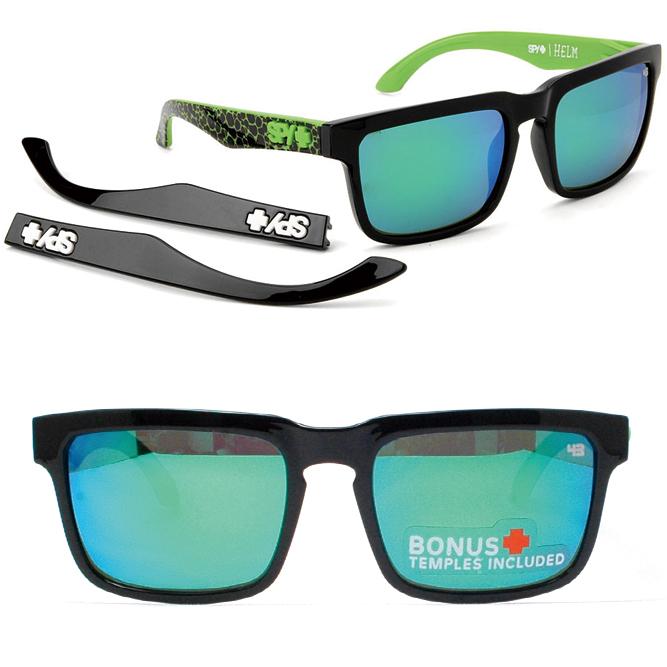 Spy sunglasses HELM helmet HHKBAS SPY+KEN BLOCK ASSAULT GREY w / GREEN  SPECTRA (+ GLOSS BLACK TEMPLES) (assault + グロスブラックテンプル grey / グリーンスペクトラ  mirror)