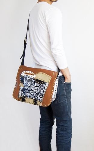 革バッグ メンズ インポートバッグ 牛革 アルゼンチン製 メンズバッグ YAM 2