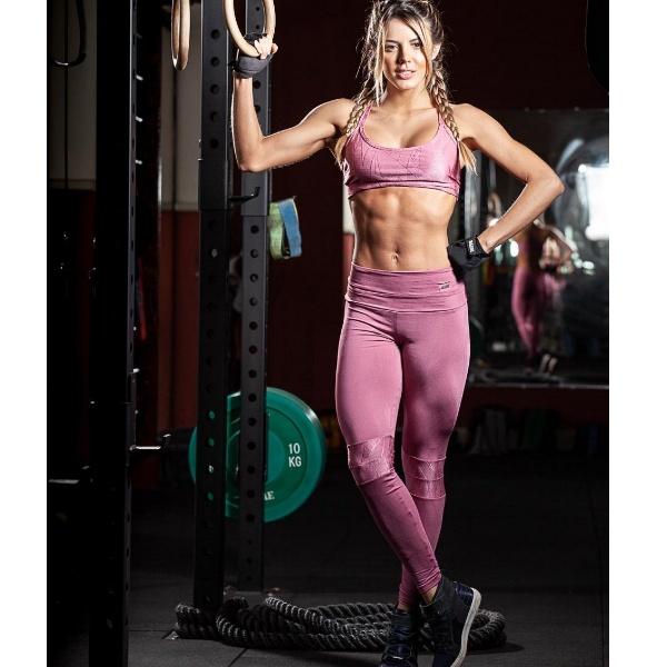 スポーツブラ レギンス ランニングウェア 送料無料 ジョギング ウェア 上下セット スポーツウェア フィットネス セットアップ インポート ピンク ブラジル製