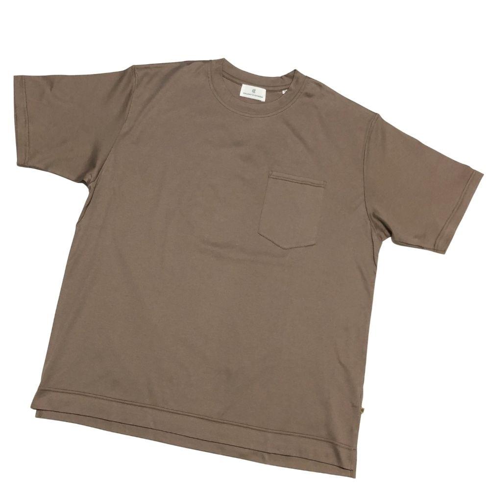 ラグジュアリーブランドであるコローニークロージングのカットソー COLONY CLOTHING コロニークロージング ブラウン クルーネック 胸ワンポケット 送料無料 春夏 ビッグシルエット 毎日激安特売で 営業中です あす楽対応 カットソー Tシャツ 新作からSALEアイテム等お得な商品 満載