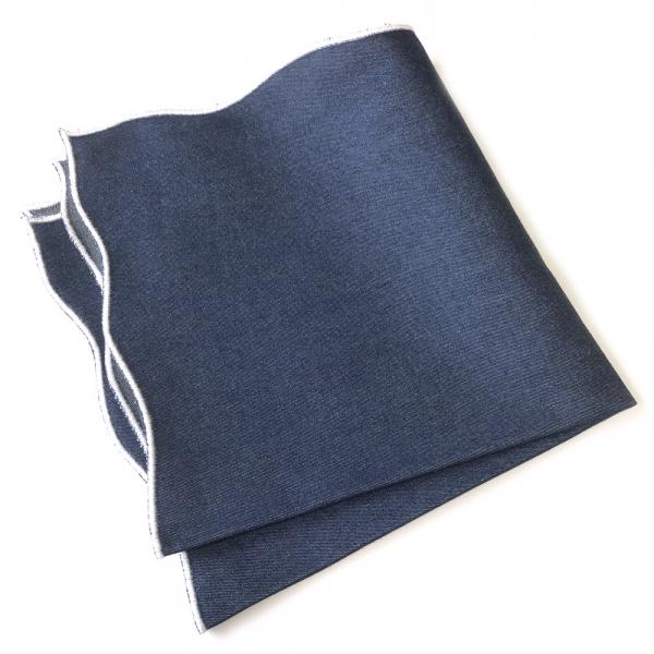 波 メーカー公式 WAVE を意味するONDA model 父の日 父の日ギフト MUNGAI ムンガイ インディゴ×ホワイト ギフト チーフ プレゼント イタリア製 国内正規品 ハンドメイド ウェイブ ポケットチーフ 超特価