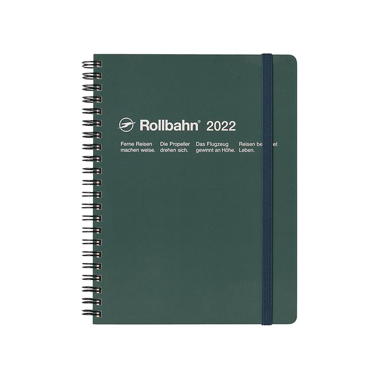 Rollbahn ロルバーン 手帳2022 公式通販 DELFONICS ダークグリーン 一部予約 デルフォニックス A5 ダイアリー 新作 大人気