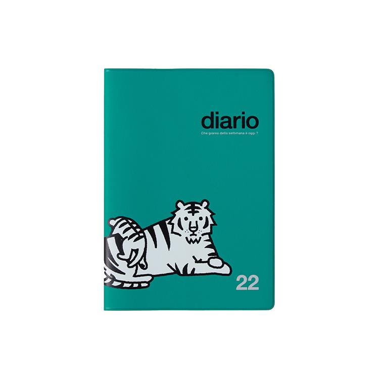 DELFONICS ご注文で当日配送 デルフォニックス 手帳2022 公式通販 開催中 グリーン タイガー B6マンスリー