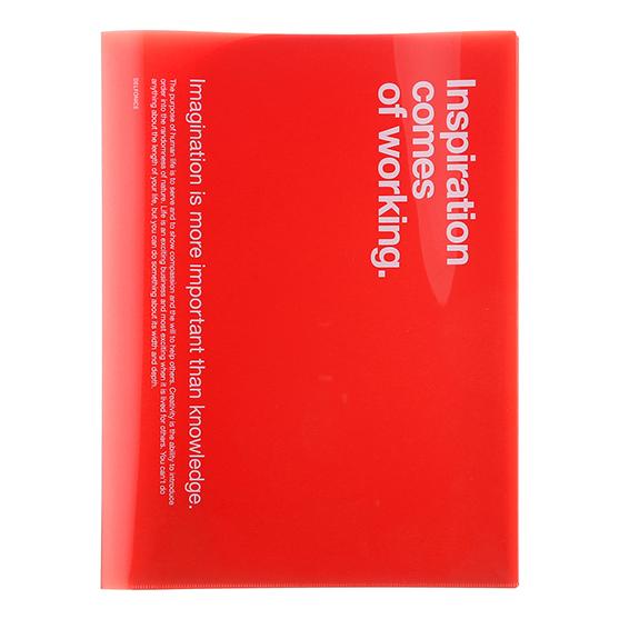 DELFONICS デルフォニックス ☆最安値に挑戦 公式通販 使い勝手の良い レッド 6ポケットファイルA4