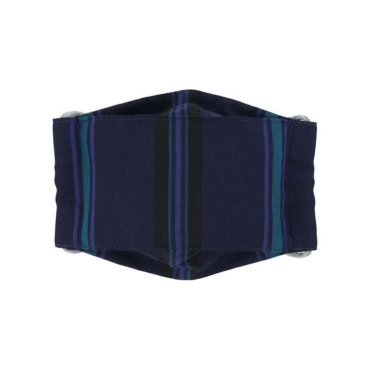 DELFONICS デルフォニックス 公式通販 DELFONICSオリジナル オーバーのアイテム取扱☆ ダークブルー マスク 驚きの値段 ストライプ