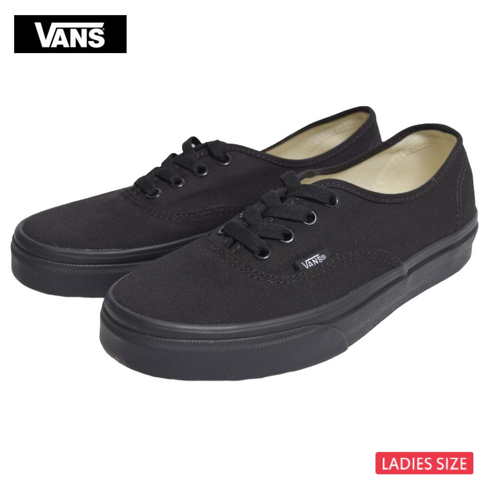 VANS LADIESバンズ/ヴァンズ レディース【VN000EE3BKA】AUTHENTICオーセンティックBlack / Blackブラックレディース スニーカー 靴