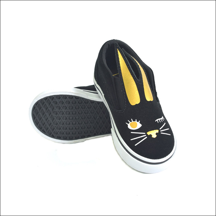 Sneakers for the VANS TODDLER vans toddler SLIP ON BUNNY BlackGold slip ons bunny black gold infant