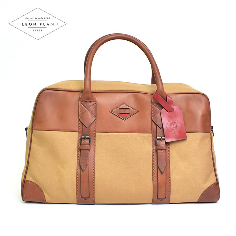 LEON FLAMレオンフラムSAC 48H BEIGE ベージュメンズ ボストン バッグ 鞄