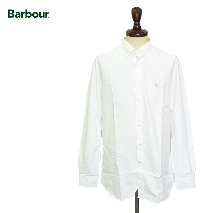 BARBOURバブアー【MSH4483WH11】Oxford 3 Tailored Whiteオックスフォードシャツ ブラウス テイラーフィット ホワイト 白