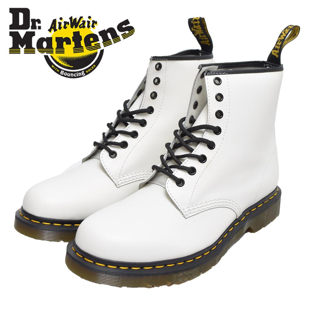 【ワケあり-484】Dr.Martensドクターマーチン【R11822100】1460WHITE SMOOTHメンズ ブーツブーツ ホワイト 白 8ホールブーツ