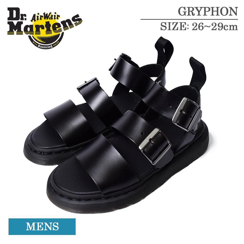 サンダル 靴 ブランド プレゼント 贈り物 誕生日 マーチン Dr.Martens ドクターマーチン 15695001 GRYPHON STRAP 厚底 ストラップサンダル 2020 新作 BLACK メンズ エアクッションソール コンフォートサンダル 本革 グリフォン レザーサンダル 人気 おすすめ SANDAL ブラック
