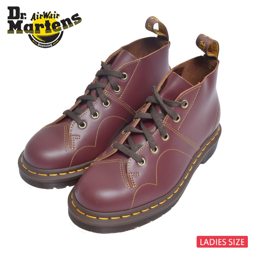 平日16時まで当日発送 定休日除 Dr.Martens ドクターマーチン R16054601 CHURCH VINTAGE 靴レッド 新発売 レザーブーツ オックスブラッドレディース 赤 シューズ 返品送料無料 SMOOTHOXBLOOD