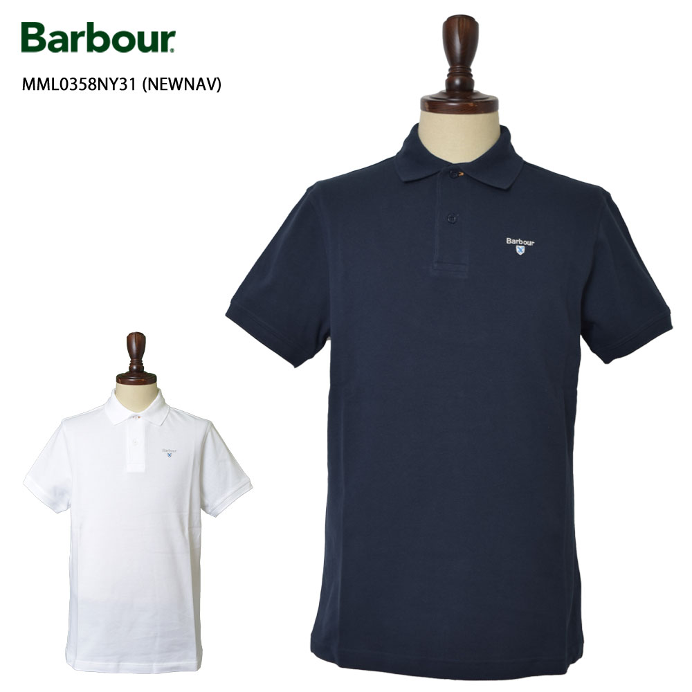 BARBOUR(バブアー)【MML0358NY31/MML0358WH11】BARBOUR SPORTS POLONAVY WHITEメンズ ポロシャツ 半袖