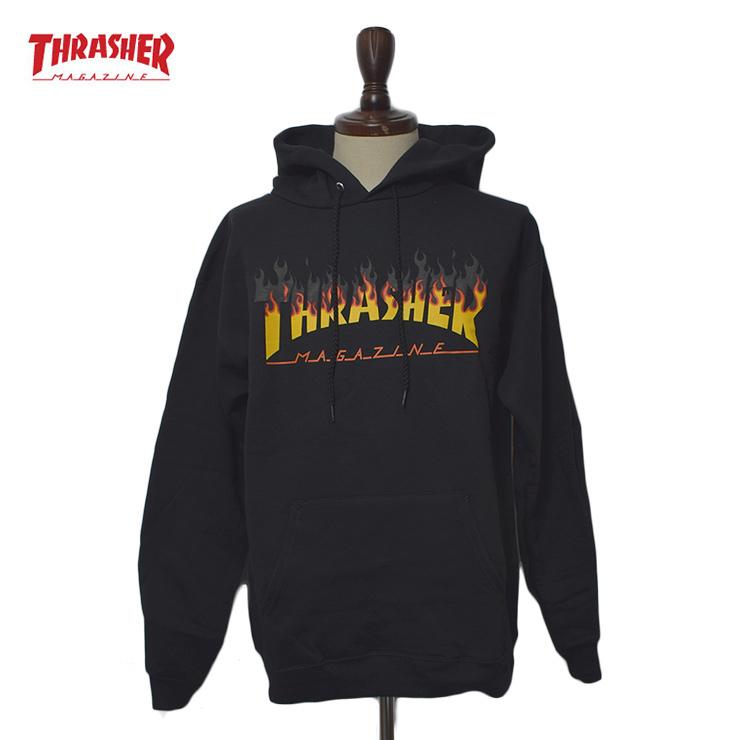 THRASHER HO'18スラッシャー【BBQ HOO】Blackパーカー フーディ トレーナー プルオーバー ブラック 黒メンズ スウェット パーカー 長袖