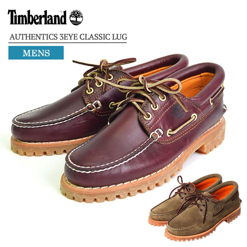 【再入荷】Timberland/ティンバーランド 【TB050009648】AUTHENTICS 3EYE CLASSIC LUGオーセンテックス 3アイ ラグBURGUNDY/バーガンディーメンズシューズ・靴