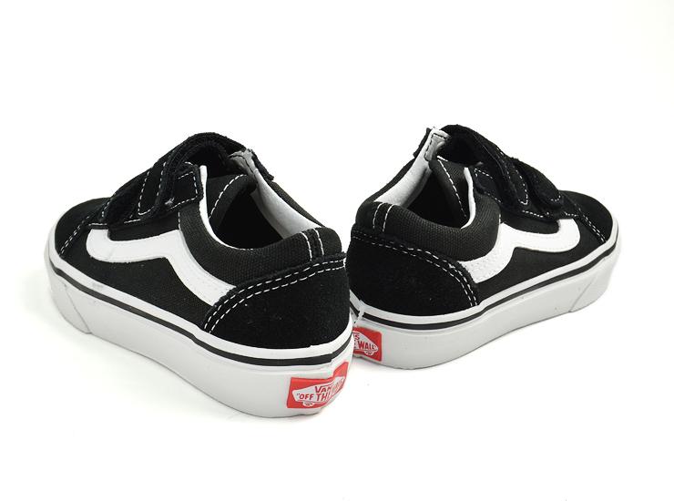 Constant seller of the sneakers popularity for the VANS KIDS vans kids KIDS OLD SKOOL V BlackTrue White vans kids old school V child