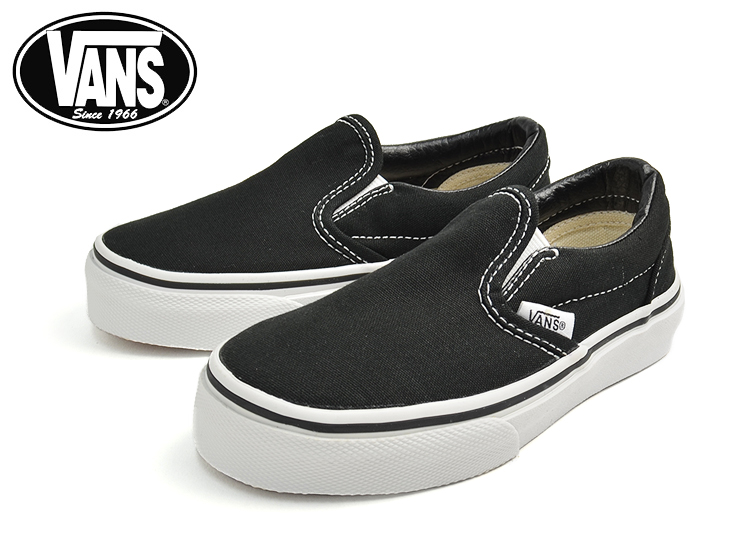children s black vans shoes