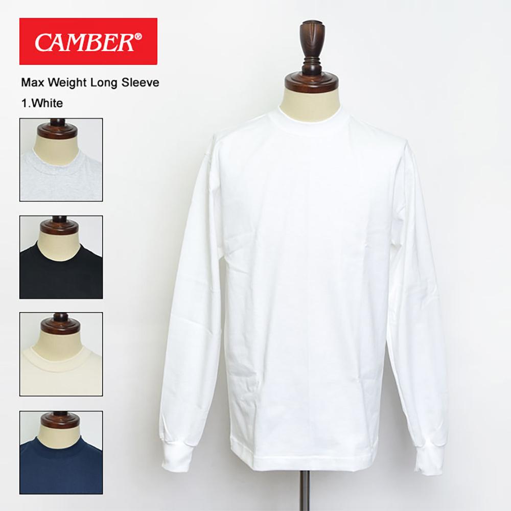 平日16時まで当日発送 定休日除 CAMBER 8oz MAX 大幅値下げランキング 爆買い新作 WEIGHT MENS キャンバー SLEEVE#305 LONG 長袖Tシャツ