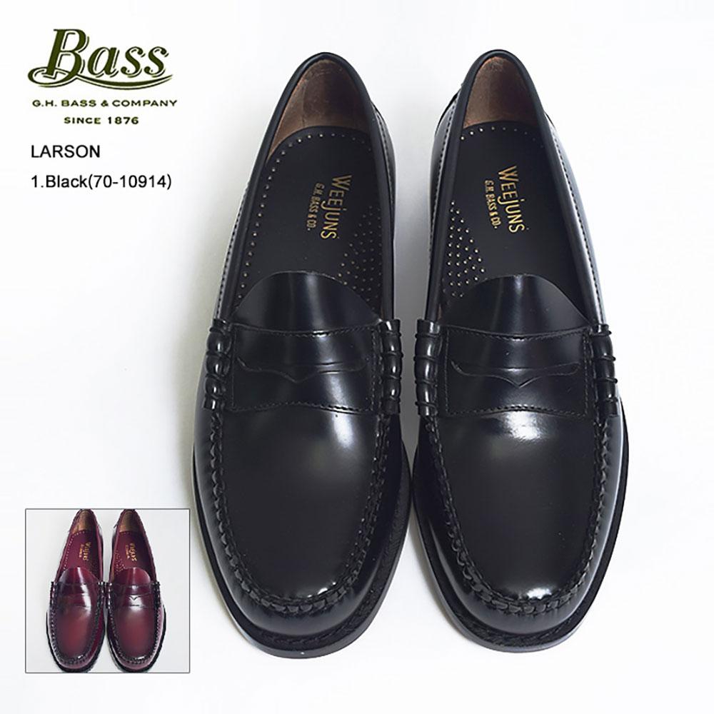 【再入荷】G.H.BASSジーエイチバス【LARSON】ラーソン70-10914/70-10919Black/Burgundyローファー レザーシューズ メンズ 靴