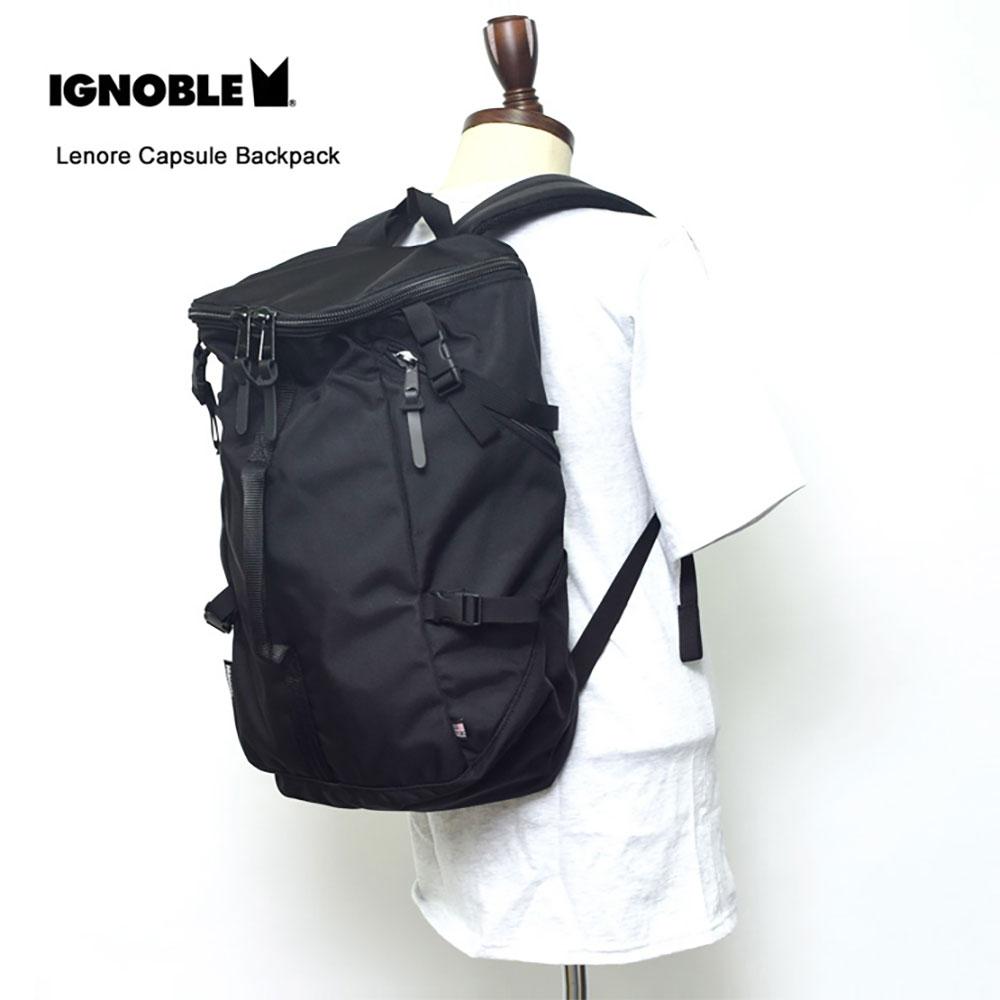 IGNOBLEイグノーブル【11003】Lenore Capsule BackpackBlackメンズ 鞄 リュック バックパック