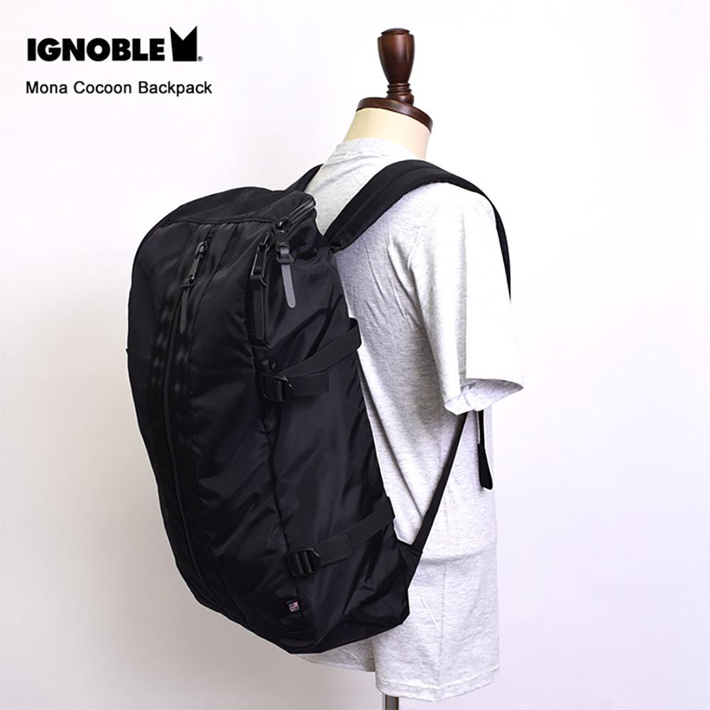 IGNOBLEイグノーブル【11001】Mona Cocoon BackpackBlackメンズ 鞄 リュック バックパック