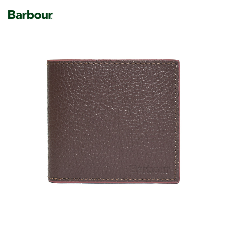 BARBOUR Grain Leather Walletバブアー【MAC0180BR711】DARK BROWNサイフ 二つ折財布 ダークブラウンメンズ レザー 革製品 レザーウォレット